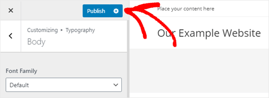Publishing your changes to your website