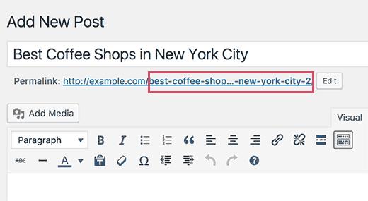 آدرس URL در پست ها با عناوین تکراری