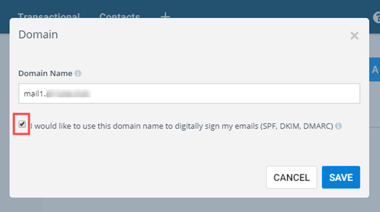 Add your subdomain and check the box