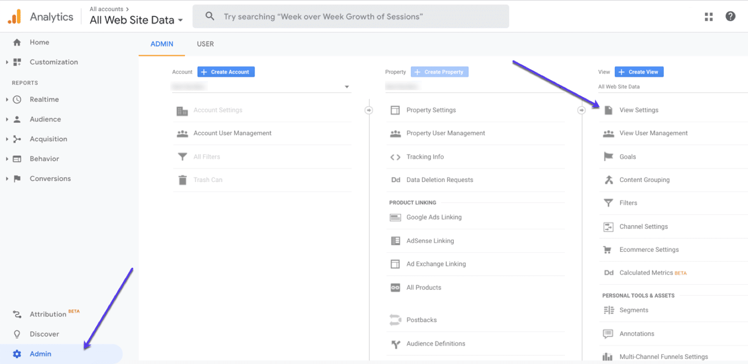 Setting up an unfiltered view in Google Analytics