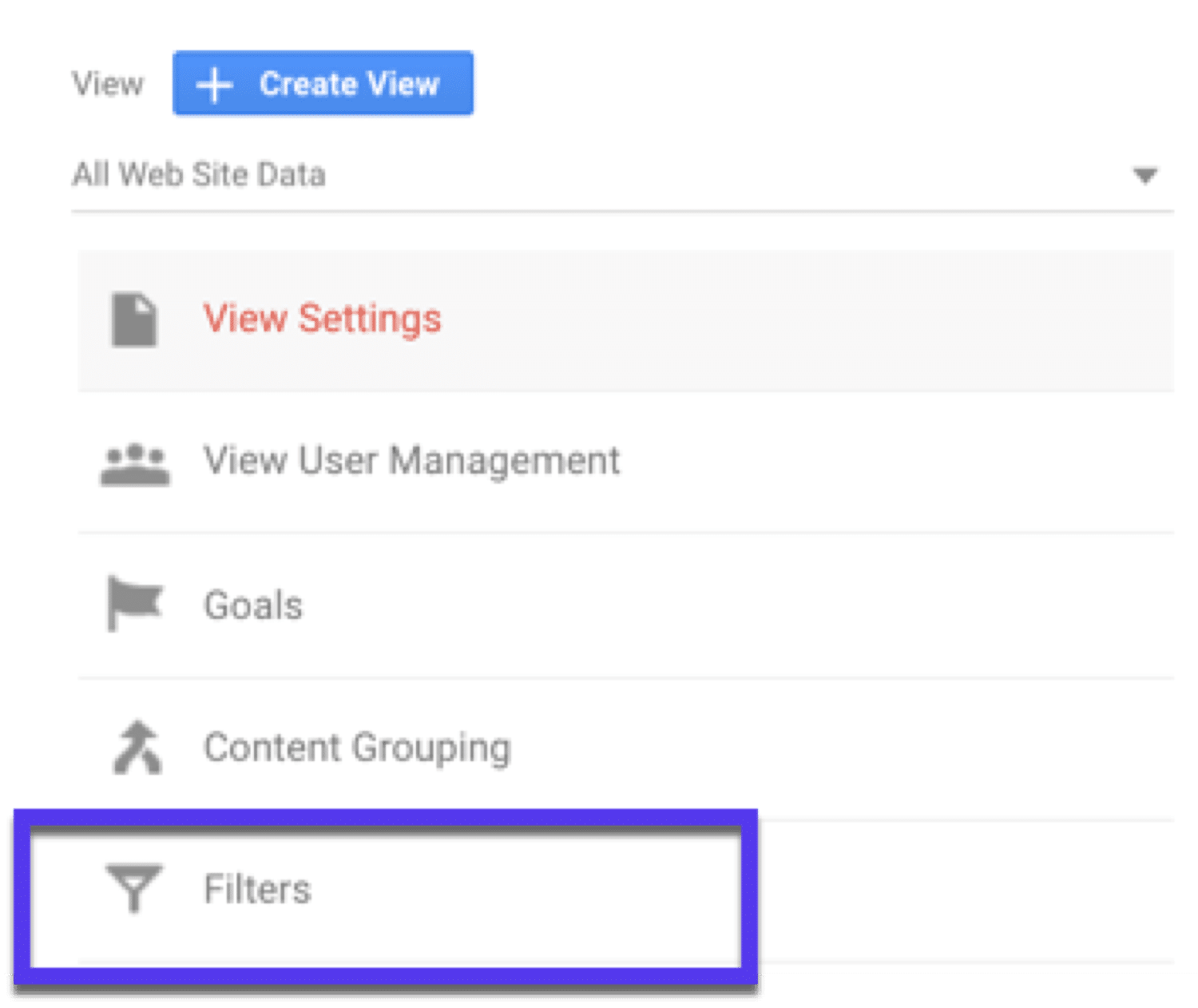 Creating a filter in Google Analytics