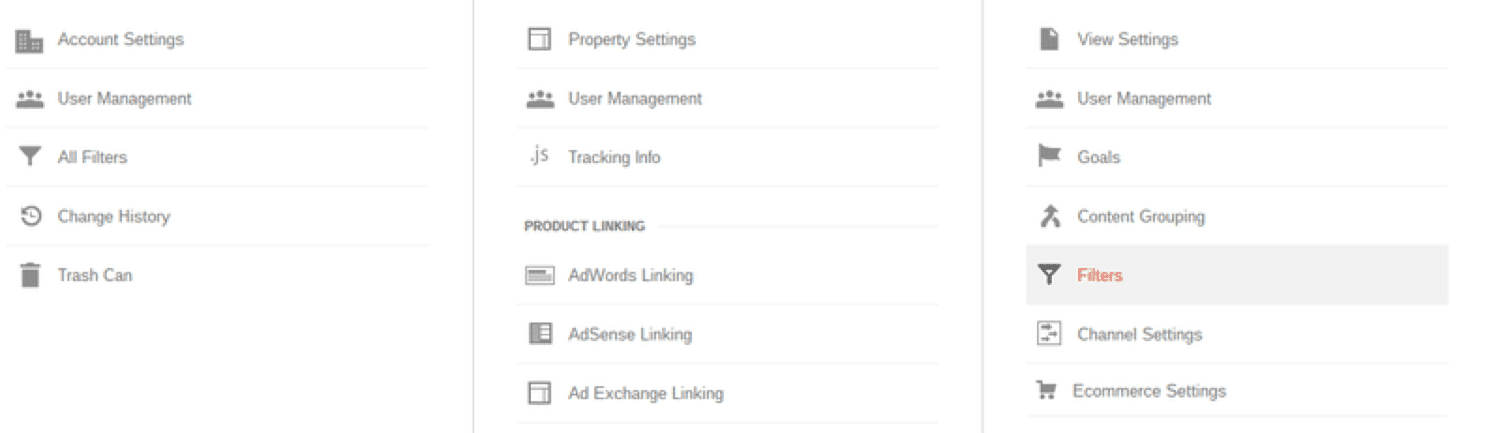 Create a list of valid host names in Google Analytics
