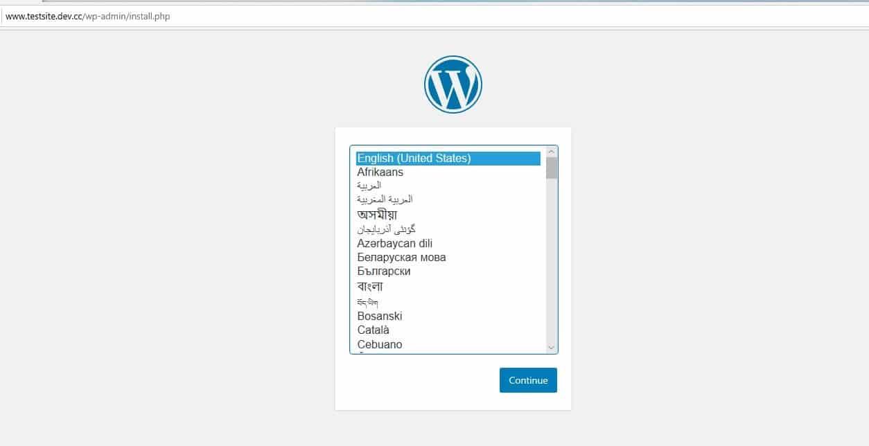 wordpress new site