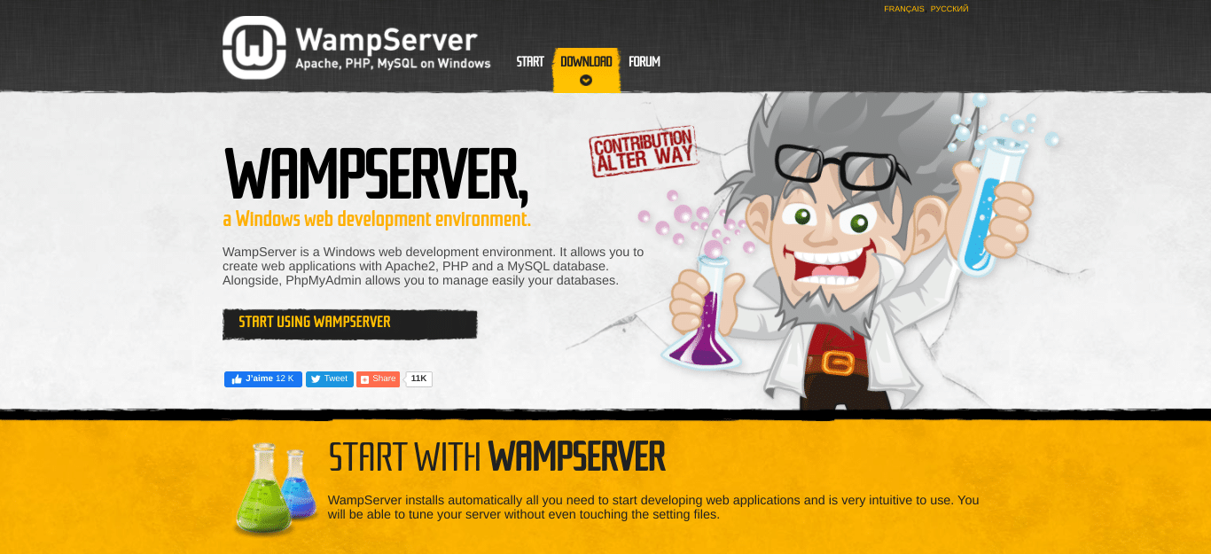 wampserver website
