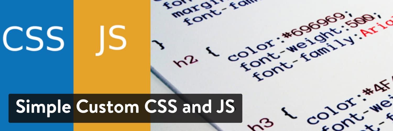 Simple Custom CSS and JS WordPress plugin