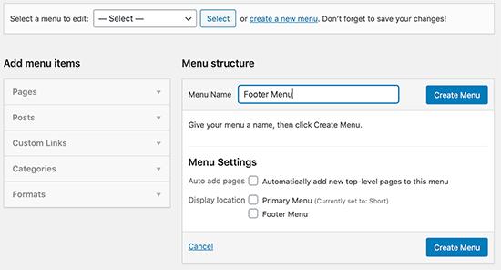 Enter your navigation menu name