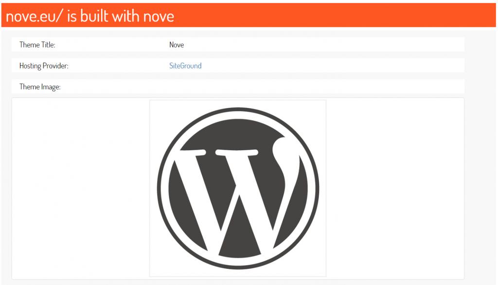 Страница Результата Детектора Тем WordPress ScanWP