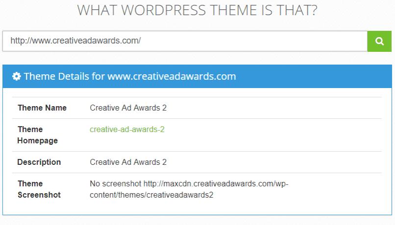 Какая Тема в Детекторе Тем What WordPress Theme Is That