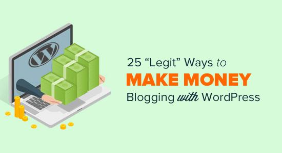 Make Money Online Blogging with WordPress