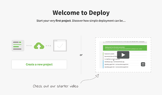 Add new project in Deploy