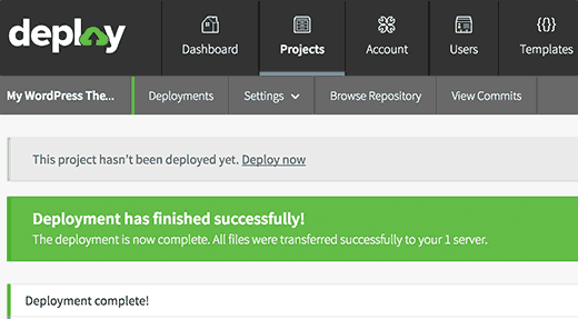 Successfully deployed