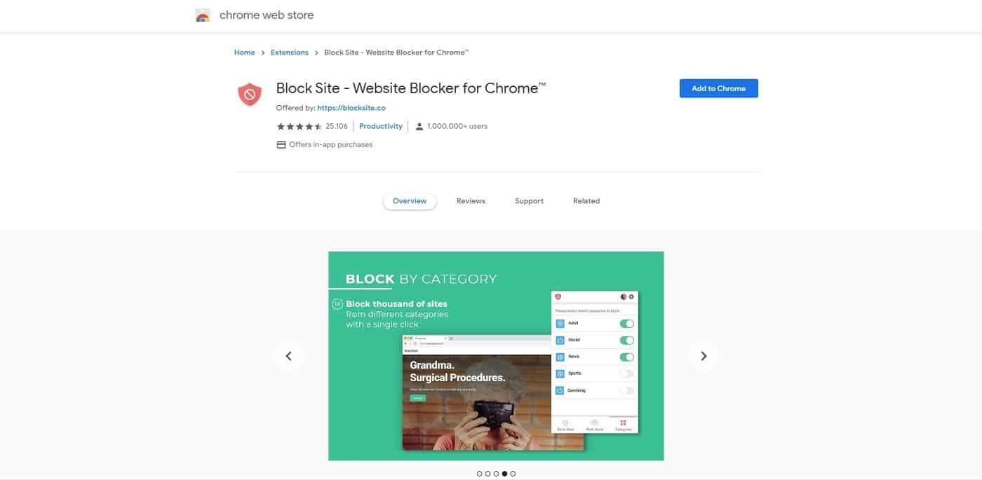 block site extension