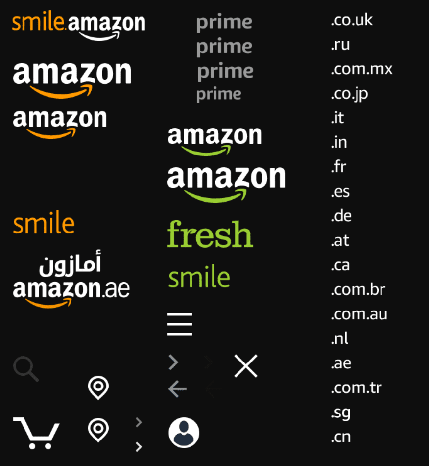 An example of CSS sprites from Amazon. You use CSS to