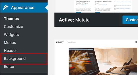 Adding background image to your WordPress theme