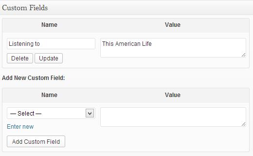 Add custom fields to a WordPress post
