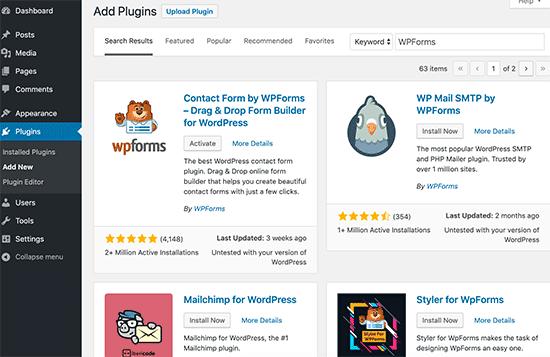 Adding a new WordPress plugin
