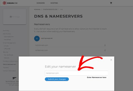 Add DNS Record Domain.com