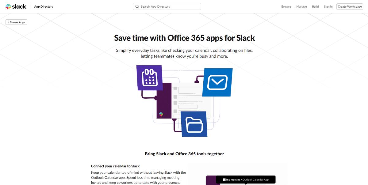 slack microsoft office 365 integrations