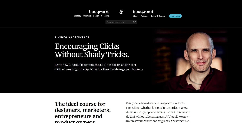 encouraging clicks course