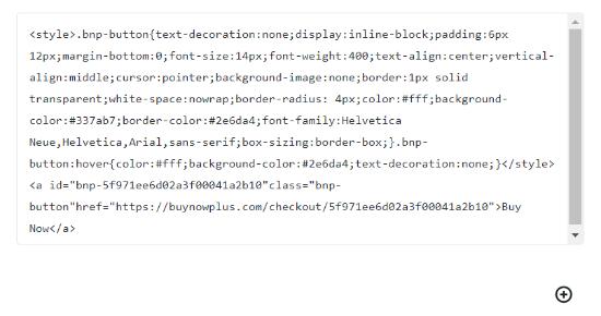 enter the code in html widget