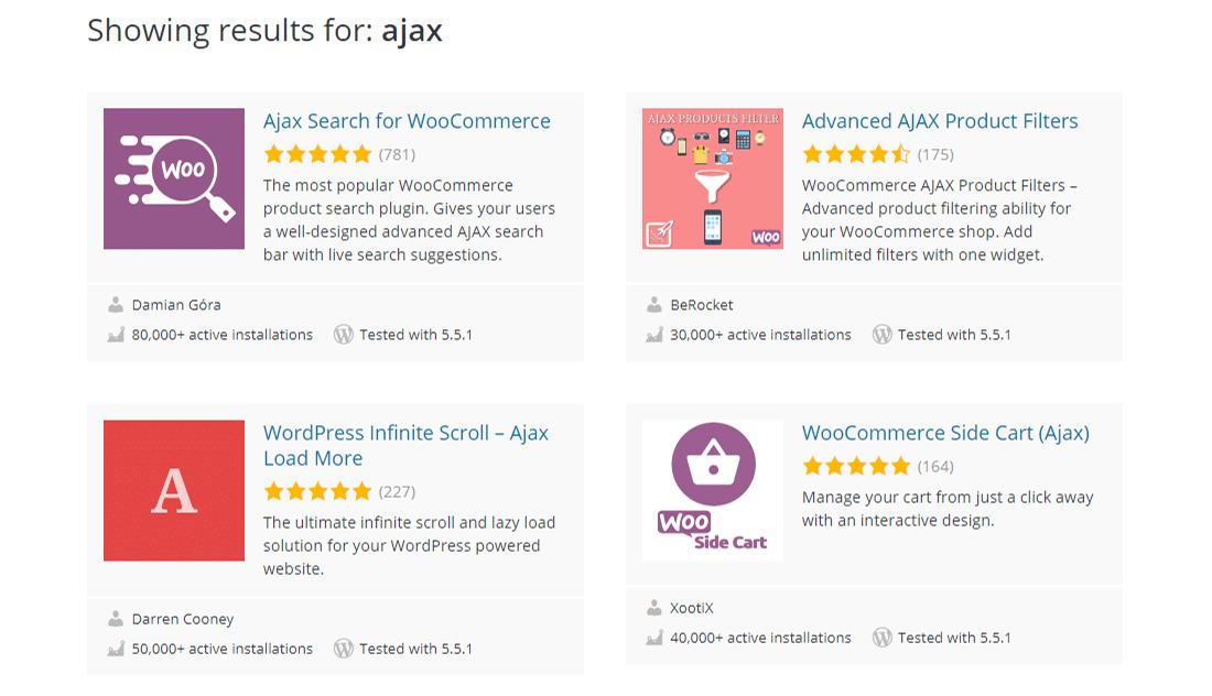 Ajax-powered plugins in WordPress.org repository